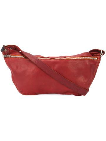 Guidi Zip Messenger Bag - Red