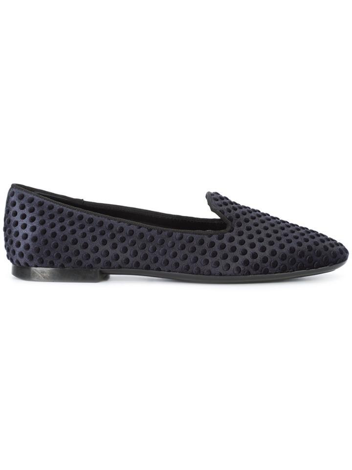 Tod's Polka Dot-embossed Slippers - Black