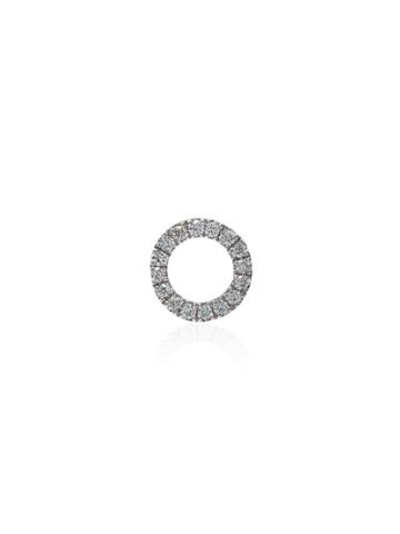 Loquet 18kt White Gold Give A Hug Diamond Charm