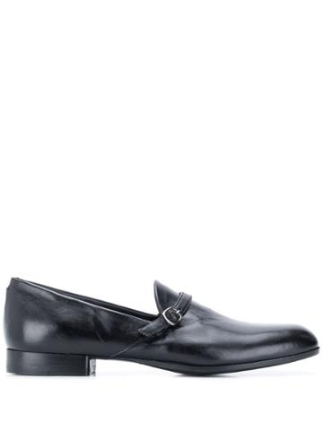 Pantanetti Buckle Detail Loafers - Black