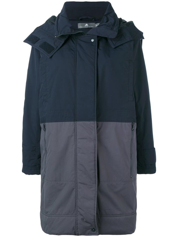 Adidas By Stella Mccartney Color Blocked Coat - Blue