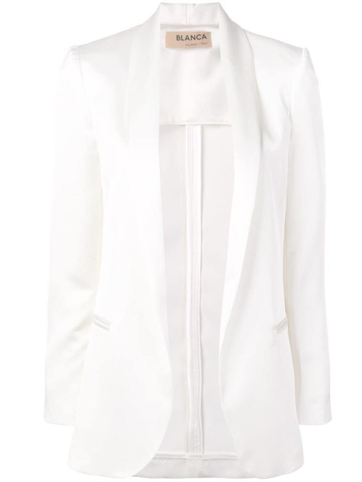 Blanca Open Front Blazer - White