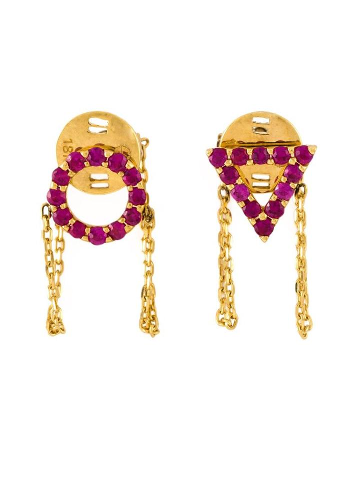 Gisele For Eshvi 'july' Ruby Earrings
