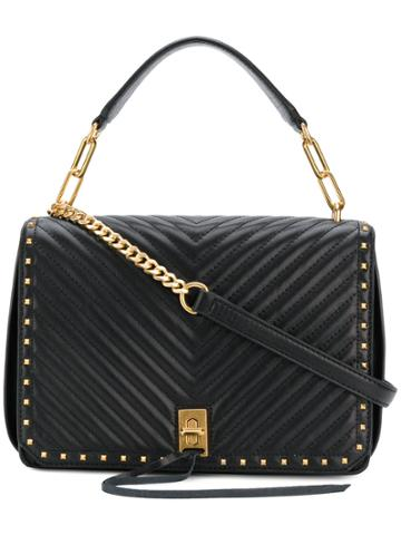 Rebecca Minkoff Chevron Style Top Handle Tote - Black