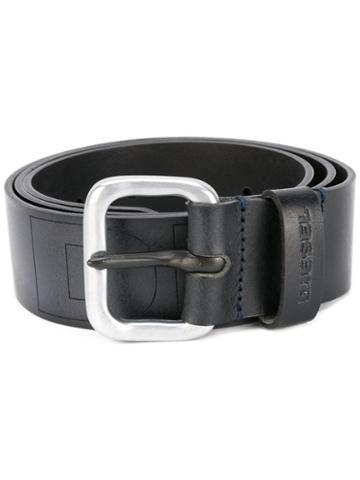 Diesel - Impressed Belt - Men - Calf Leather - 85, Black, Calf Leather