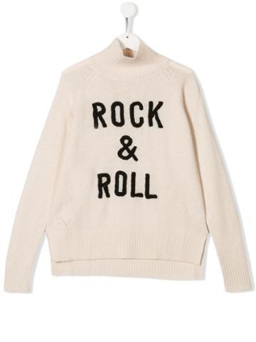 Zadig & Voltaire Kids Teen Rock & Roll Jumper - White