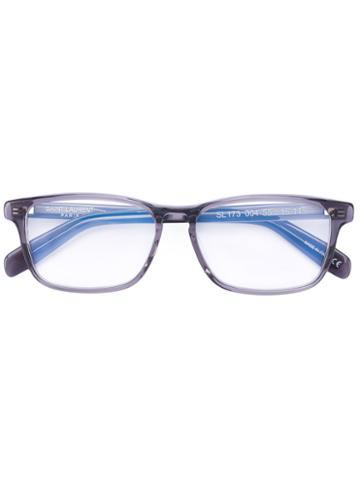 Saint Laurent - Rectangular Glasses - Unisex - Acetate - One Size, Grey, Acetate