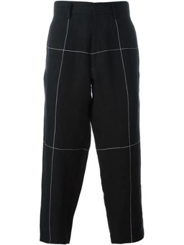 Aganovich Block Stitched Trousers