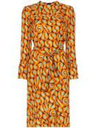 Marni Tie-waist Printed Dress - Orange