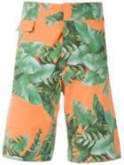 Amir Slama Printed Shorts - Green