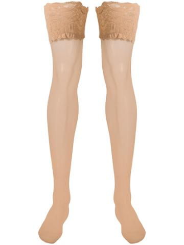Wolford Satin 20 Stay-ups - Neutrals