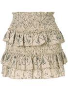 Sir. Sachi Printed Mini Skirt - Brown