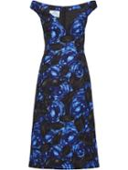Prada Crepe Cady Dress - Blue