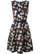 Woolrich - Patterned Shift Dress - Women - Cotton - M, Blue, Cotton