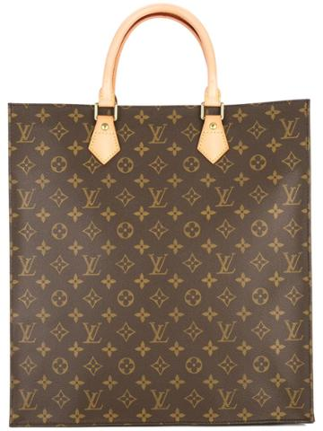 Louis Vuitton Vintage Sac Plat Hand Tote Bag - Brown