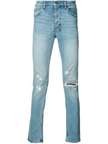 Ksubi - Distressed Skinny Jeans - Men - Cotton - 30, Blue, Cotton