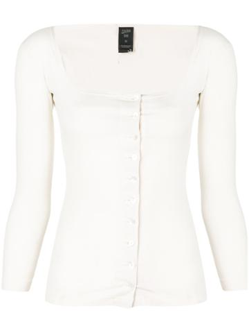 Jean Paul Gaultier Vintage Buttoned Cardigan - White