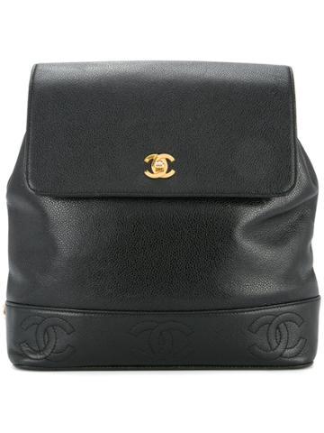 Chanel Vintage Caviar Skin Backpack - Black