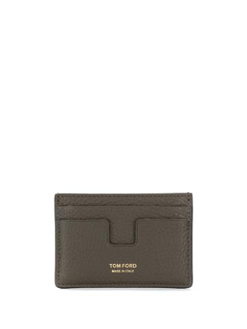 Tom Ford Pebbled Texture Card Holder - Brown