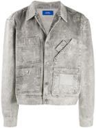 Rassvet Hand Drawing Detail Denim Jacket - Grey