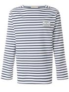 Maison Kitsuné Striped Long-sleeve Sweater - Blue