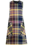 Bottega Veneta Plaid Dress - Purple
