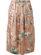 Muveil Jungle Print High Waist Skirt