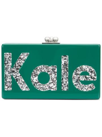Edie Parker - Jean Kale Clutch - Women - Acrylic - One Size, Green, Acrylic