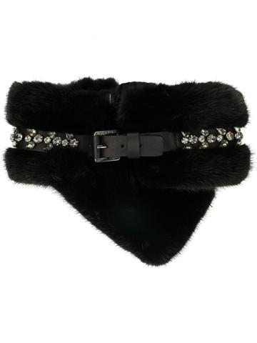 Dsquared2 Crystal Embellished Collar - Black