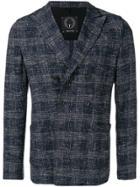 T Jacket Check Printed Jacket - Blue