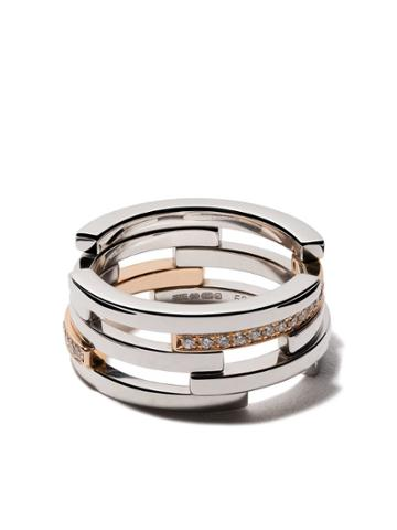 Maison Dauphin 18kt Gold And Diamond C10v Volume Ring - Unavailable