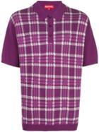 Supreme Plaid Knit Polo - Purple