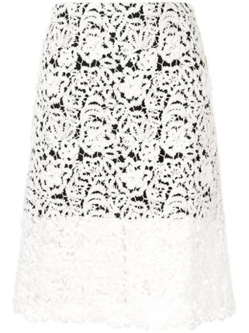 Chloé Lace Midi Skirt - White