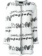 Twin-set Printed Blanket Stitch Coat