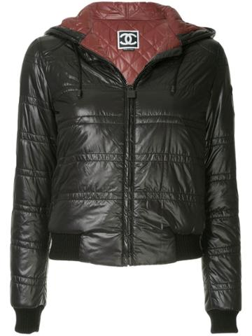 Chanel Vintage Padded Hooded Jacket - Black