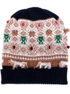 Barrie Intarsia Knit Beanie