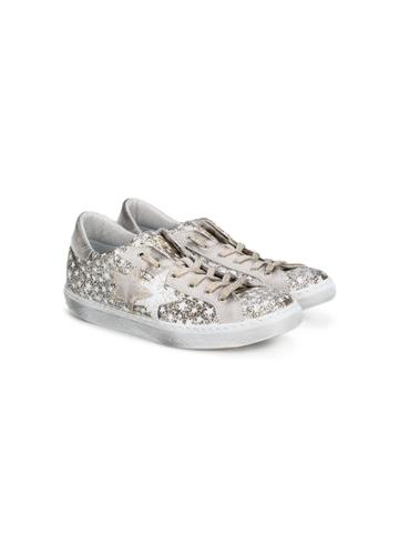 2 Star Kids Star Patches Sneakers - Metallic