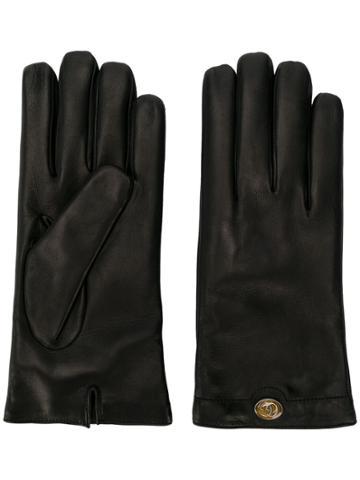 Gucci Logo Plaque Gloves - Black