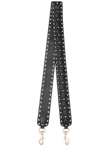 Valentino Valentino Garavani 'rockstud' Strap, Women's, Black, Leather/metal