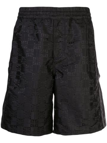 Givenchy 4g Shell Shorts - Black