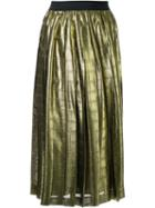 Muveil Metallic (grey) Pleated Skirt, Women's, Size: 40, Cupro/polyester