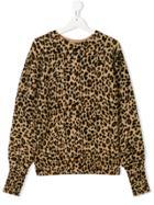 Les Coyotes De Paris Leopard Pattern Jumper - Brown