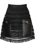 Toga Faux Leather Panelled Mini Skirt