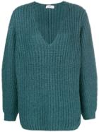 Closed Fisherman Knit V-neck Sweater - Blue