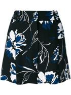 Michael Kors Floral Print Shorts - Black