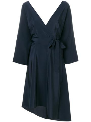 Dvf Diane Von Furstenberg Wrap Dress - Blue