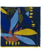 Altea Abstract Print Scarf - Blue