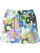 Etro Floral Print Drawstring Shorts
