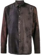 Lanvin Patchwork Tile Print Tshirt, Men's, Size: 39, Blue, Silk