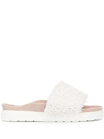 Inuikii Pearl-embellished Slides - White